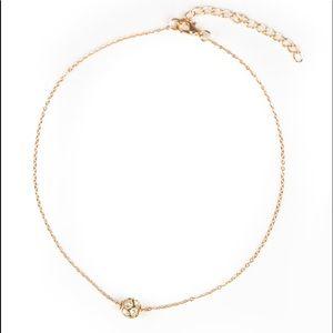 Jewelry - Modest Shine - Gold Choker Necklace Earring Set